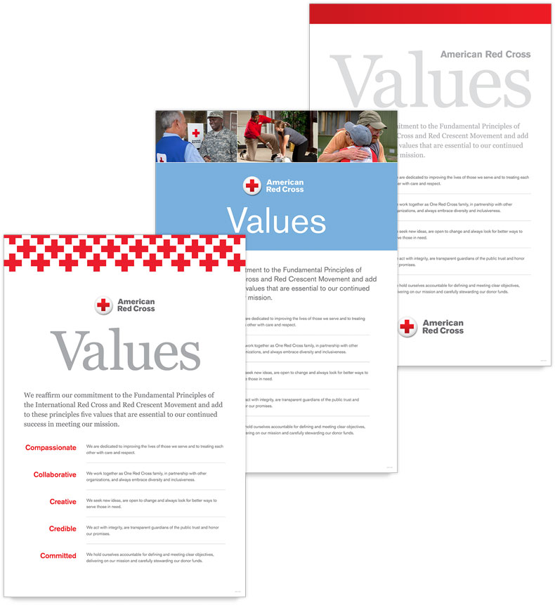 Values poster options